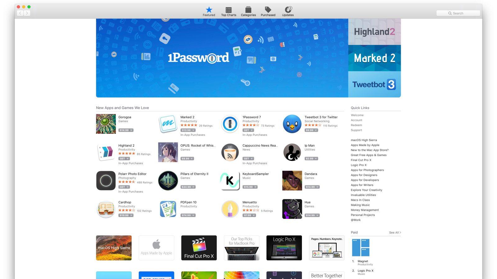 Khám phá Mac App Store